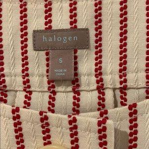 Halogen Tops - Halogen Red Cream Striped Top/Blazer